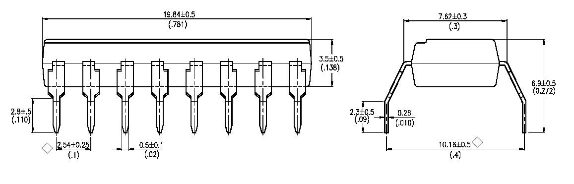 Circuits integr s logiques comparateurs texas for Circuit logique cmos